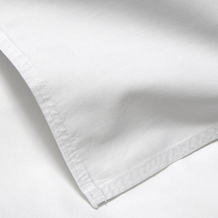 Nord Sateng sengetøy flatt laken kvalitet klassisk norsk design hvit